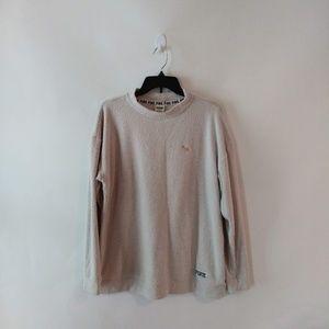 VS Pink Cream Cowl Neck Sweater Pullover size M